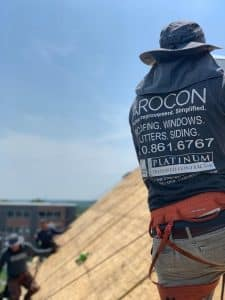 Roof installation by Arocon Roofing & Construction