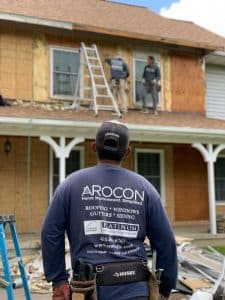 Siding installation by Arocon Roofing & Construction